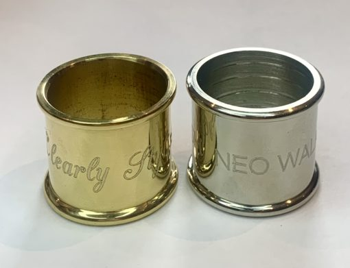 Brass and Nickel Signature Collar to Engrave